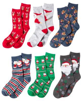 Charter Club~Women/'s Bearded Santa Crew Socks