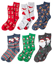 Women's Holiday Crew Socks, Created For Macy's