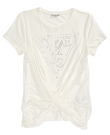 Big Girls Crystal Twist-Front T-Shirt