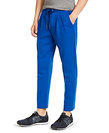 Men's Athletic Straight-Fit Pleated Logo-Print Sweatpants
