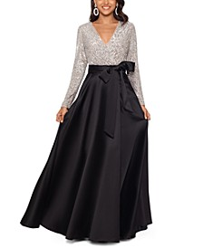 Sequinned-Top Ball Gown