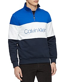 Men's Quarter-Zip Colorblocked Sweatshirt