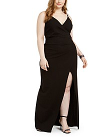 Trendy Plus Size Juniors' Wrap Gown
