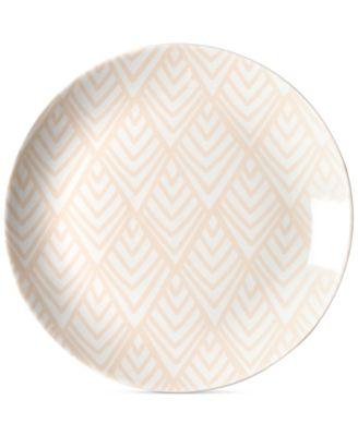 by Laura Johnson Blush Layered Diamond Dinner Plate