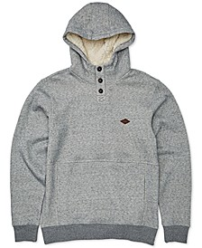 Big Boys Faux-Sherpa-Lined Button Hoodie