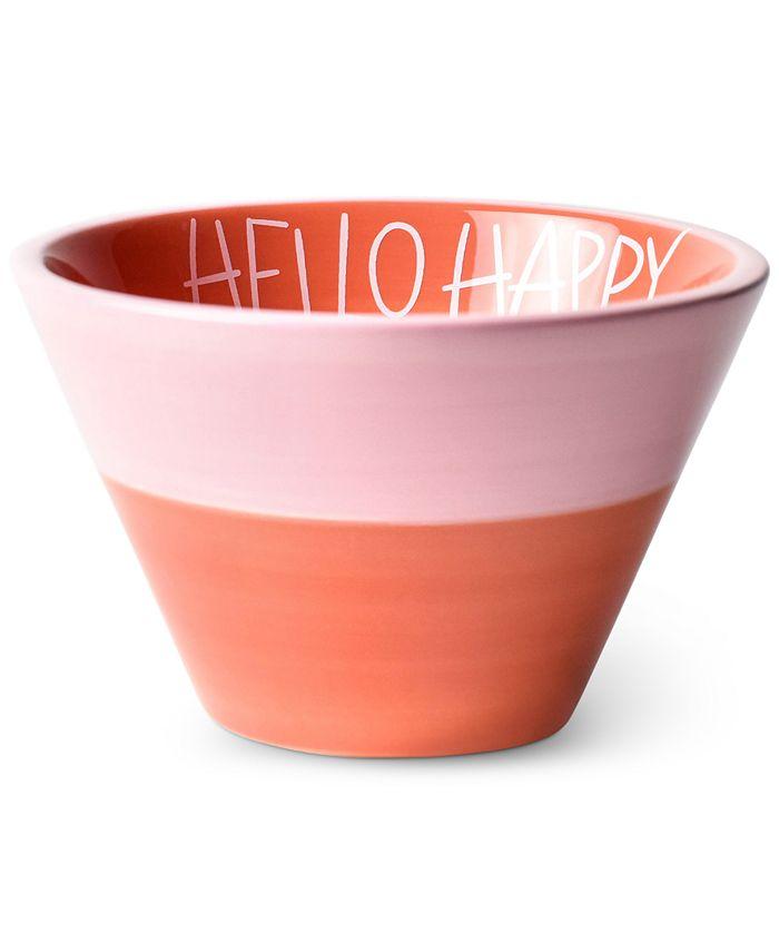 Coton Colors - Persimmon Hello Happy Appetizer Bowl
