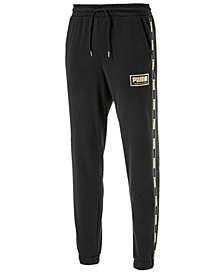 Men's Metallic-Logo Pants