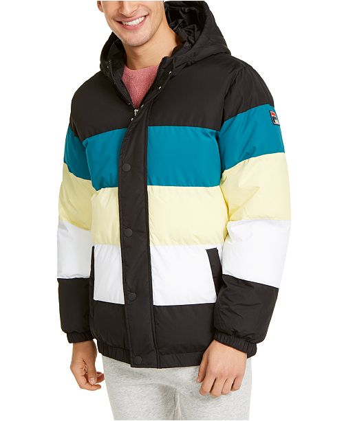 Fila Men's Giovanni Colorblock Puffer Jacket