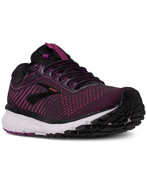 Brooks Women's Ghost 12 Wide Width Running Sneakers from Finish Line