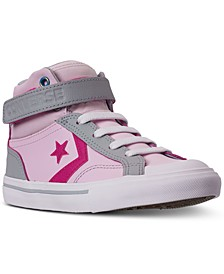 Little Girls Pro Blaze Strap High Top Casual Sneakers from Finish Line