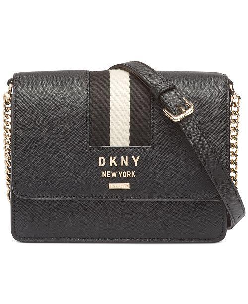 DKNY Liza Leather Small Shoulder Flap Bag