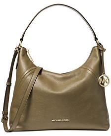 Aria Pebble Leather Shoulder Bag