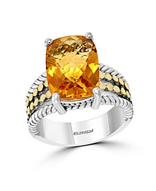EFFY® Citrine (6-1/3 ct. t.w.) Ring in 18k Yellow Gold and Sterling Silver