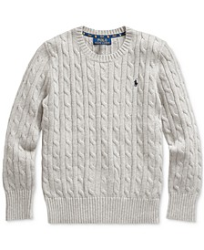 Big Boys Cable-Knit Cotton Sweater