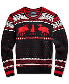 Big Boys Reindeer Wool-Blend Sweater