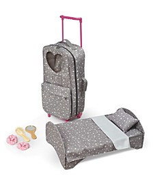 """Travel and Tour Trolley Carrier with Bed For 18"""" Dolls"""