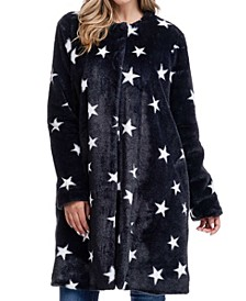 Stars Faux Fur Coat