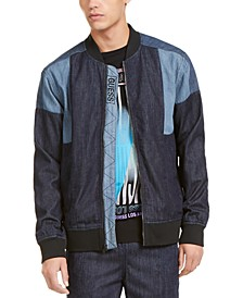 Men's Chambray Track Bomber Jacket
