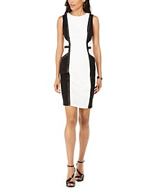 Sleeveless Colorblocked Sheath Dress