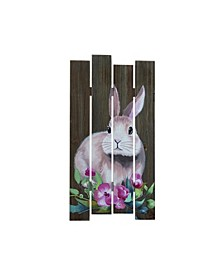 Brown Easter Plank Bunny Decor