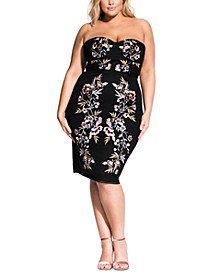 Trendy Plus Size Embroidered Dress