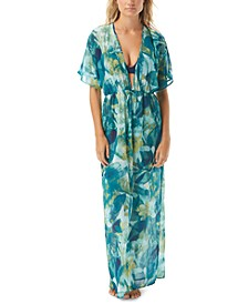 Rainforest Printed Caftan Swim Cover-Up