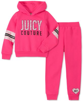 Little Girls 2-Pc. Fleece Hoodie & Jogger Pants Set