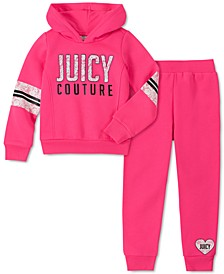 Little Girls 2-Pc. Fleece Hoodie & Jogger Pants Set