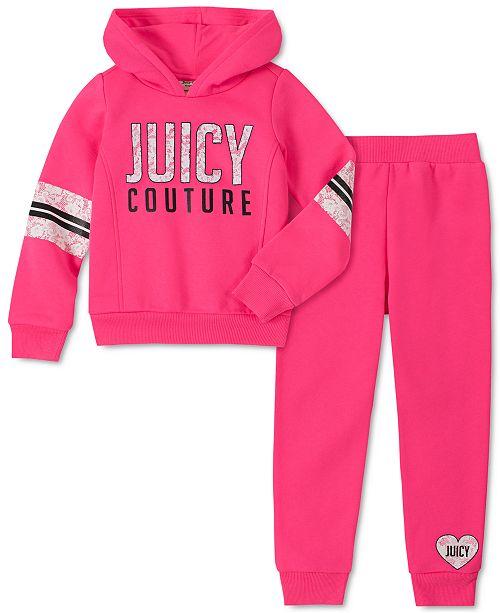 Juicy Couture Toddler Girls 2-Pc. Fleece Hoodie & Jogger Pants Set