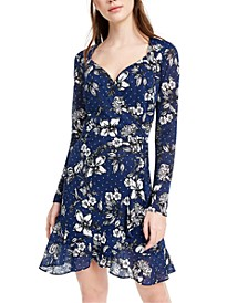 Juniors' Floral A-Line Dress