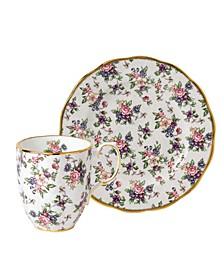 100 Years 1940 2-Piece Set, Mug & Plate - English Chintz