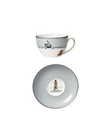 Sailors Farewell Breakfast Cup & Saucer Set