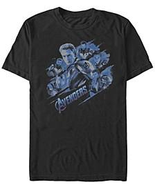 Men's Avengers Endgame Captain America Group, Short Sleeve T-shirt
