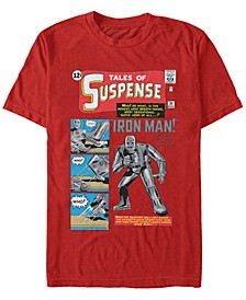 Men's Iron Man Retro Tales of Suspense Comic Cover, Short Sleeve T-shirt