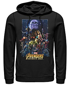 Men's Avengers Infinity War Big Face Thanos Poster, Pullover Hoodie