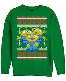 Pixar Men's Toy Story Aliens Ugly Christmas Sweater, Crewneck Fleece
