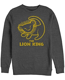 Men's Lion King Simba Cave Painting, Crewneck Fleece