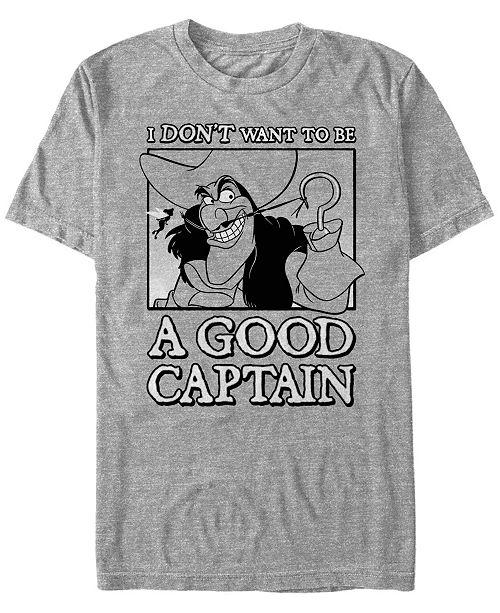 Disney Men's Peter Pan Captain Hook Not a Good Captain, Short Sleeve T-Shirt