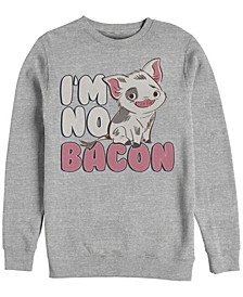 Men's Moana Pua Cute I'm No Bacon, Crewneck Fleece