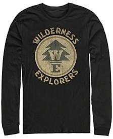 Pixar Men's Up Wilderness Explorer Badge, Long Sleeve T-Shirt