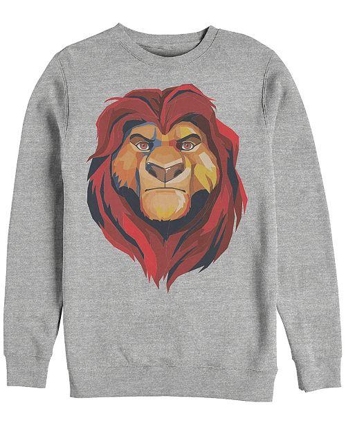 Disney Men's Lion King Mufasa Geometrics, Crewneck Fleece