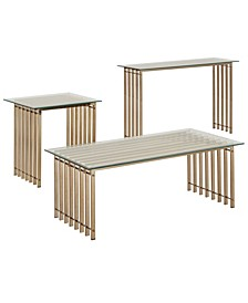 Zorica 3-Piece Occasional Table Set with Glass Top