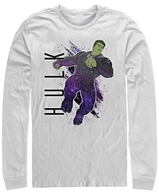 Men's Avengers Endgame Hulk Painted Portrait Poster, Long Sleeve T-shirt