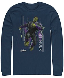 Men's Avengers Endgame Hulk Action Pose, Long Sleeve T-shirt