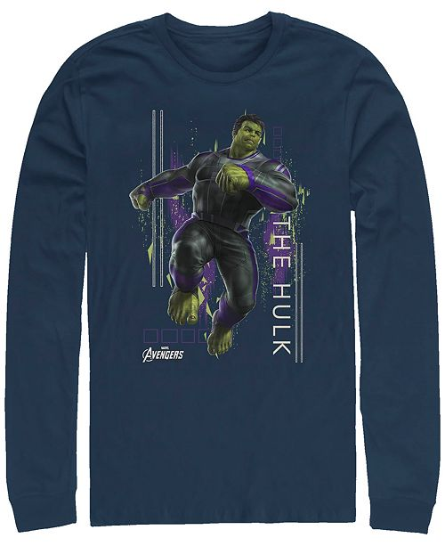Marvel Men's Avengers Endgame Hulk Action Pose, Long Sleeve T-shirt