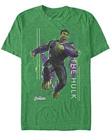 Men's Avengers Endgame Hulk Action Pose, Short Sleeve T-shirt