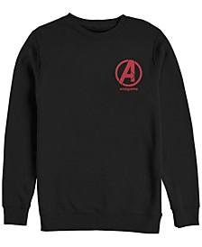 Men's Avengers Endgame Left Chest Logo, Crewneck Fleece