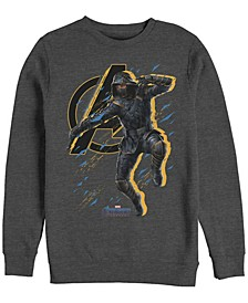 Men's Avengers Endgame Ronin Jump Action Pose, Crewneck Fleece