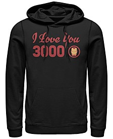 Men's Avengers Endgame Iron Man I Love You 3000 Text, Pullover Hoodie