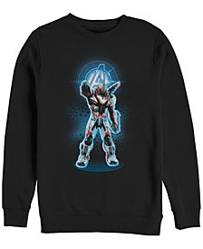 Men's Avengers Endgame War Machine Armor Suit, Crewneck Fleece